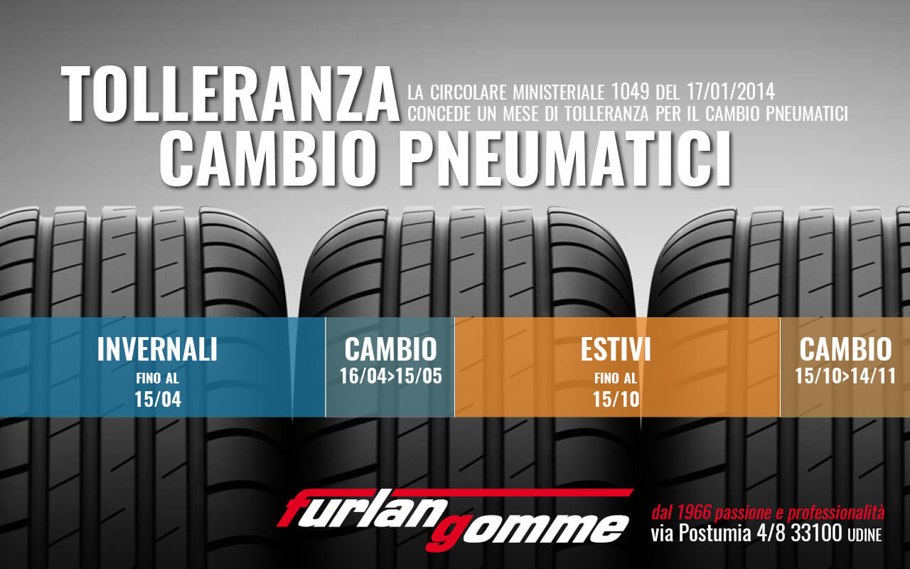 furlan gomme udine 2018 tolleranza cambio gomme